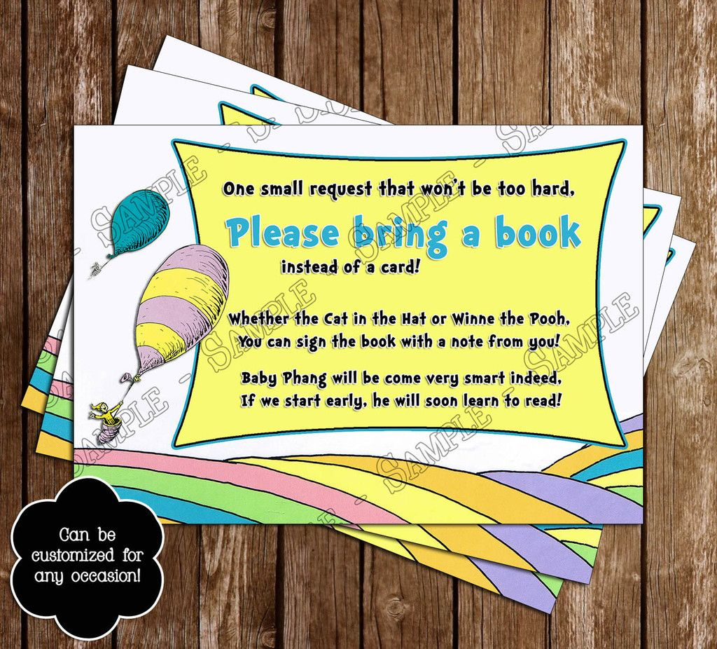 dr seuss book baby shower invitations printable free - Google Search ...
