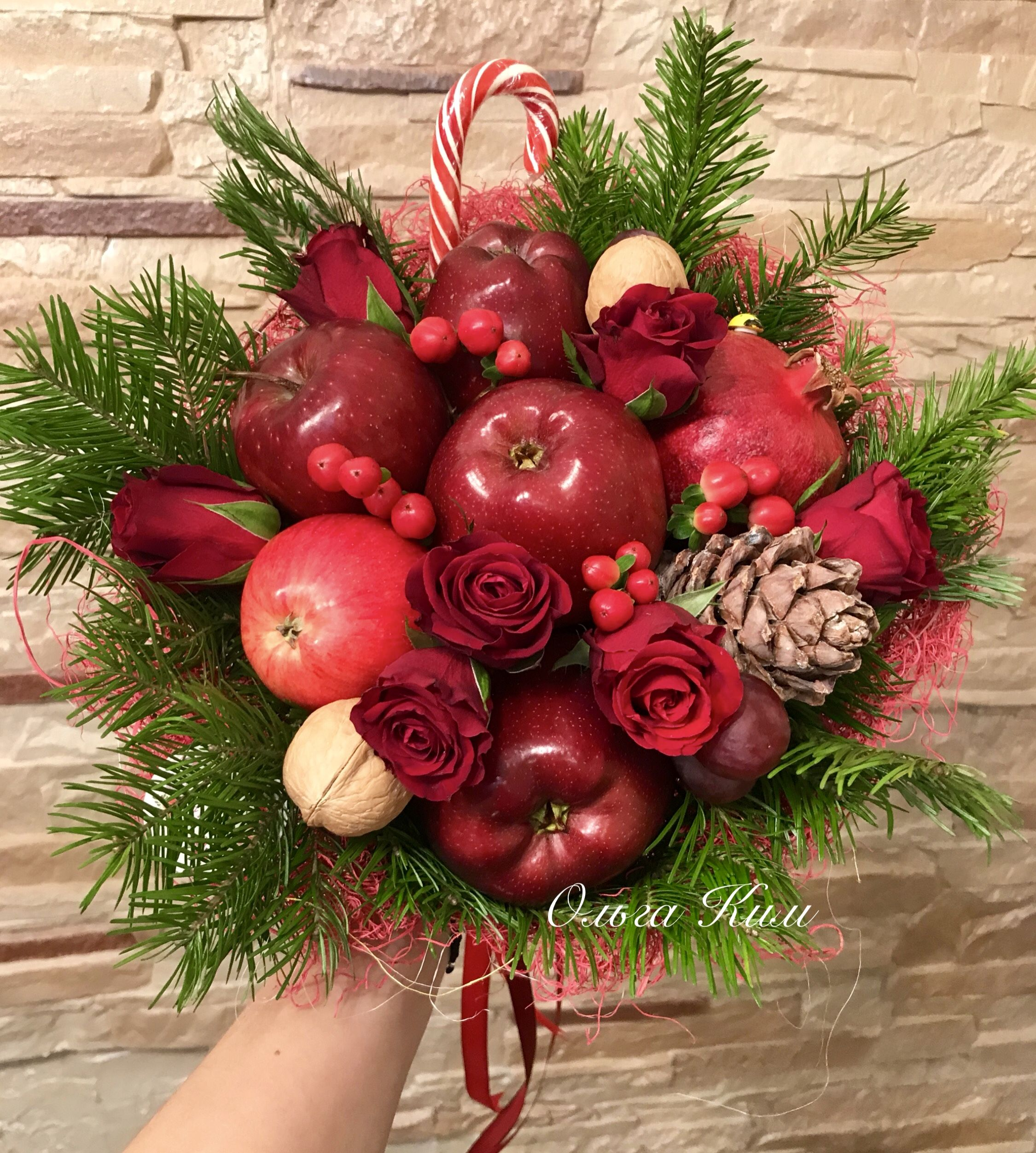 Поздравление фруктовым букетом фото 601