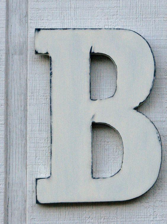 Vintage Letters Letter B Decor