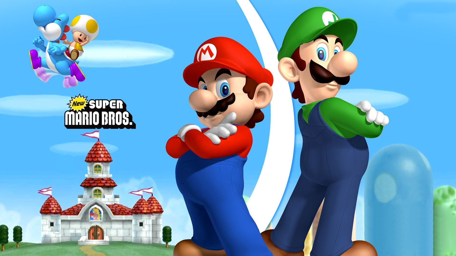 Super Mario Bros HD desktop wallpaper : Fullscreen : Dual