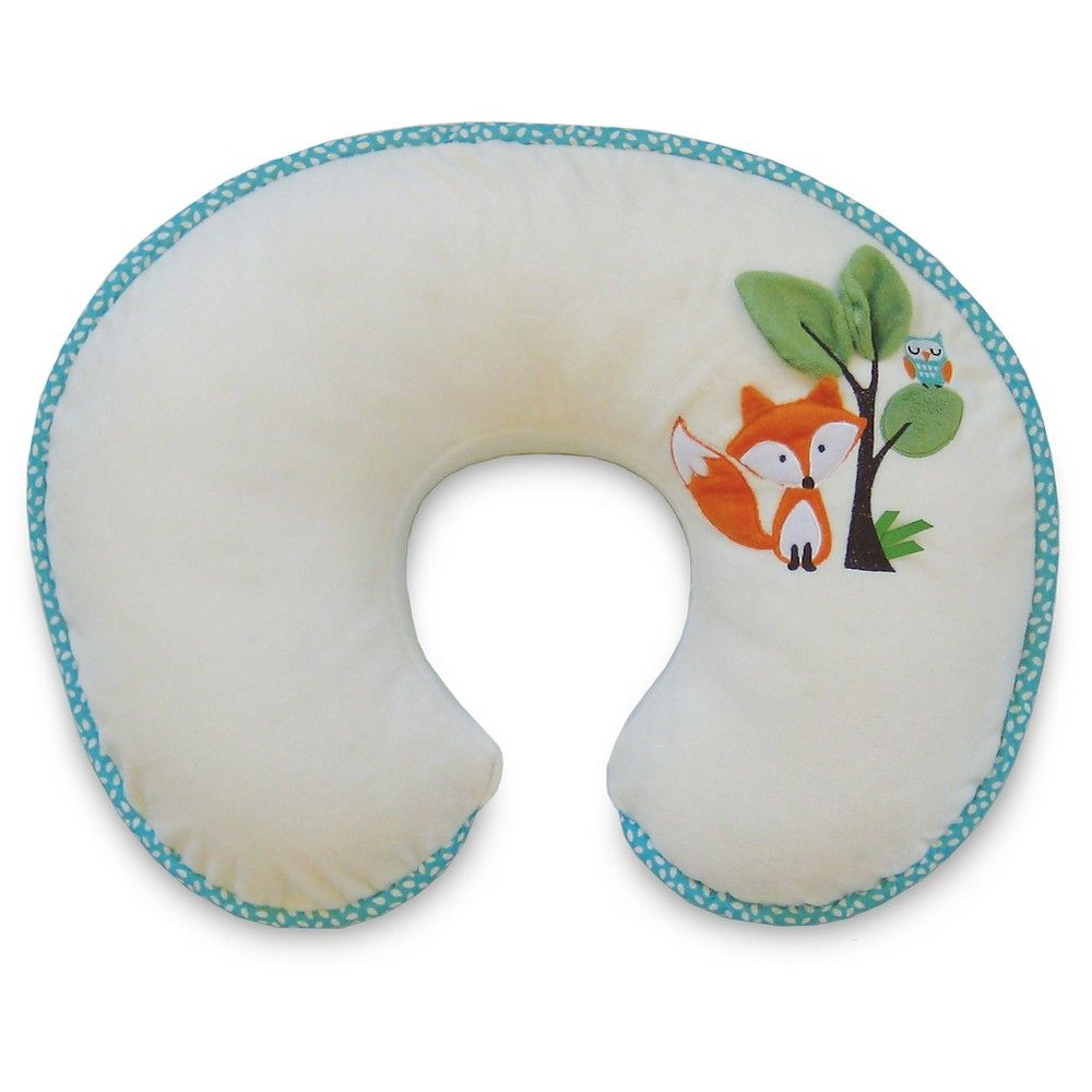 Original Boppy Nursing Pillow and Positioner - Fox and Owls, Buff Beige