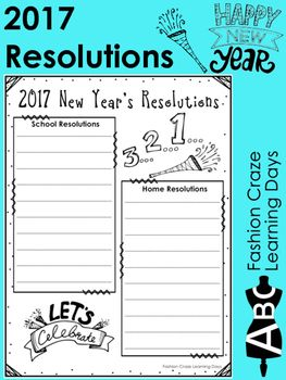 Free Printable Family New Year Resolutions New Year Printables