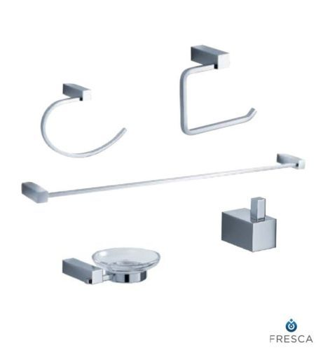 Fresca Fac0400 Ottimo 5Piece Bathroom Accessory Set Chrome Magnificent Chrome Bathroom Accessories Design Decoration