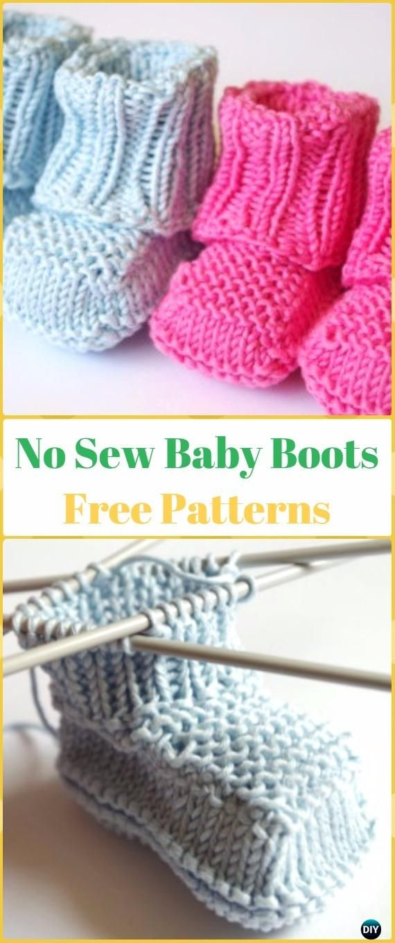 Knit Ankle High Baby Booties Free Patterns | Tejido