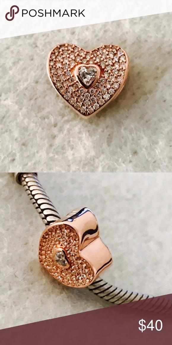 aa064fdb59771 Authentic Pandora Rose Gold Sweetheart Charm Pandora Rose Gold ...
