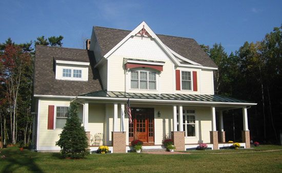 make dormer bigger like this one front exterior of the