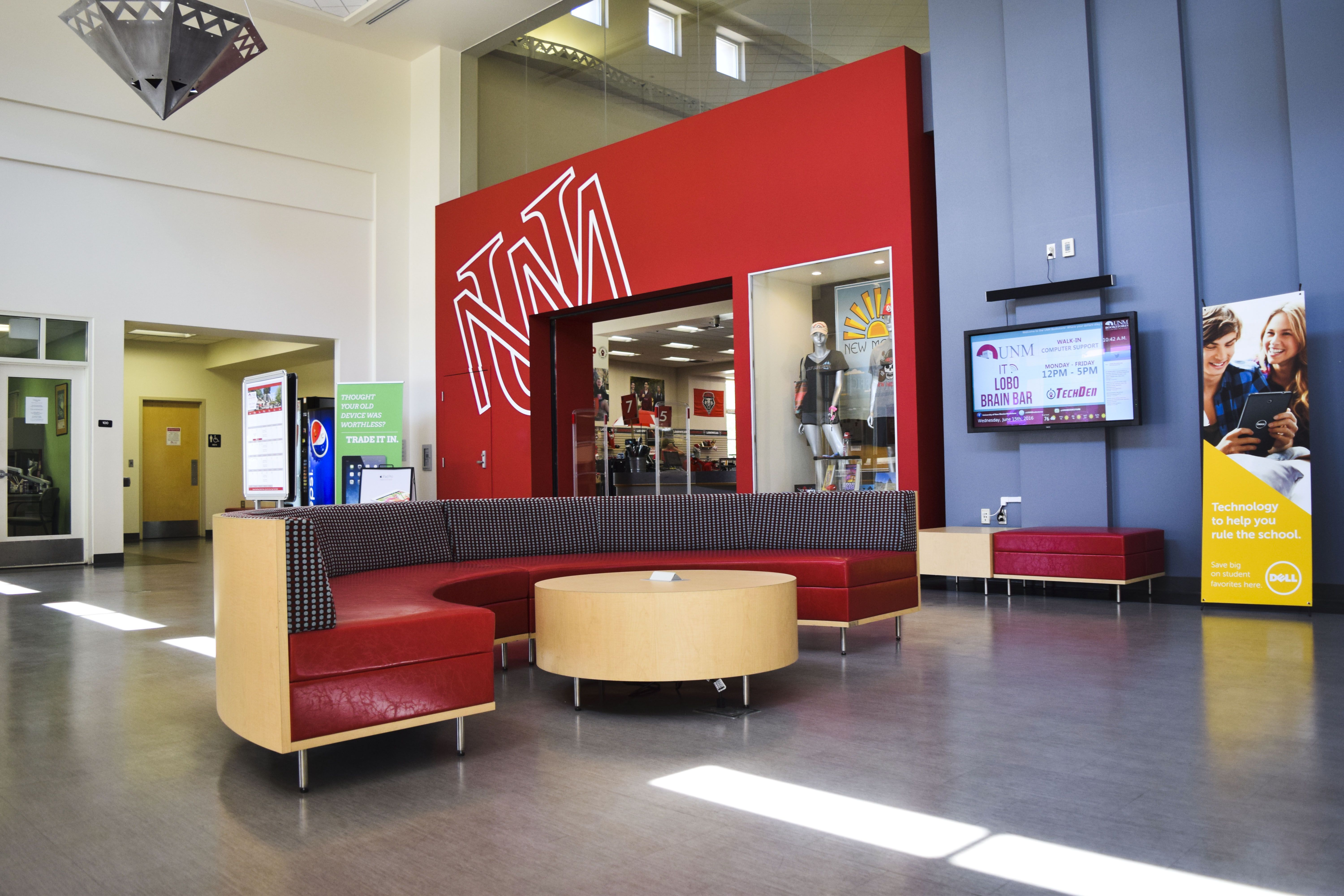 Unm Bookstore Lobby With Images University Of New Mexico