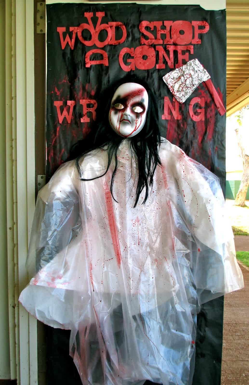 Decoration, Scary Spooky Voodoo Doll For Halloween Door Decoration Ideas:  Perfect Halloween Room Decor