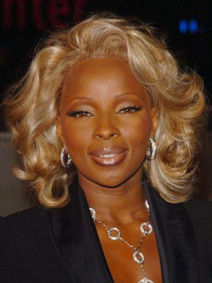 Mary J Blige Hairstyles October 9 2004 Dailymakeover Com Hair Styles Celebrity Hairstyles Black And Blonde