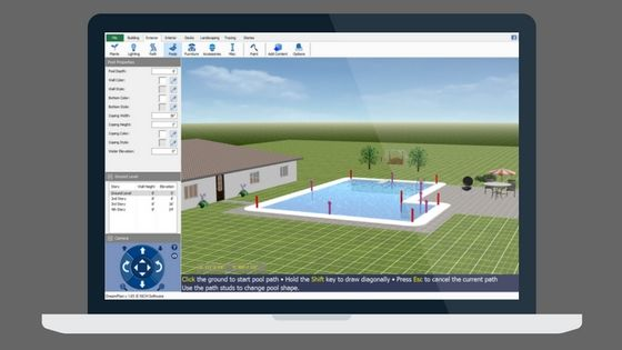 Create Aswimming Pool With Dreamplan Home Design Software Do More With Software Pool Designs Home Design Software Swimming Pool Designs