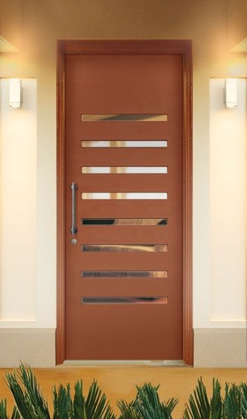 External Doors Corinthian Doors Slimlite Pslm208 In Taubmans Colour Corsica 2040mm H X 1020mm W External Doors Doors House Front