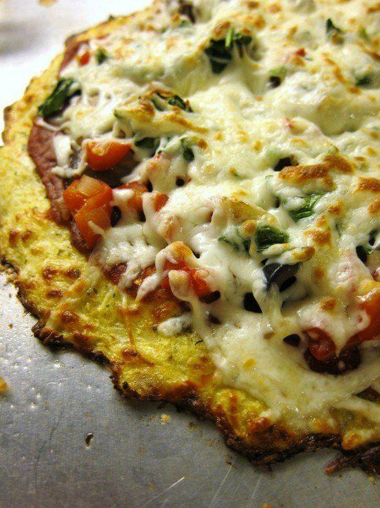 Cauliflower crust.  gotta try this...