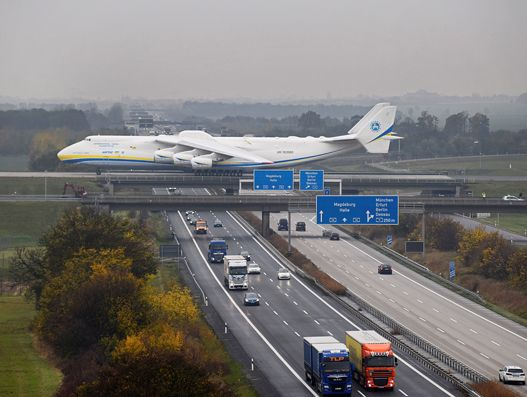 Antonov 225 transports approx. 160 tonnes from Leipzig