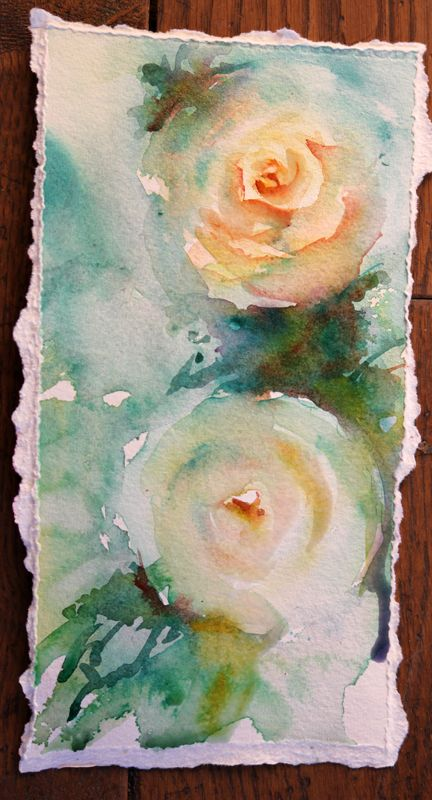 """Vintage Roses""   Work in progress     My joy in painting has always been in accepting the fact that there isn't always only one way to ..."