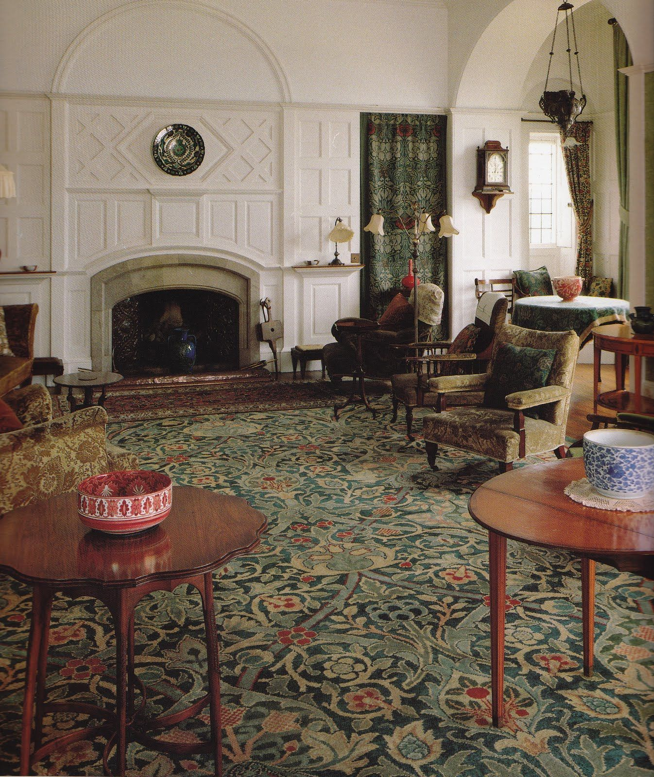 The Drawing Room Standen 1891 Philip Webb Architect William Morris Designer Carpet Wall