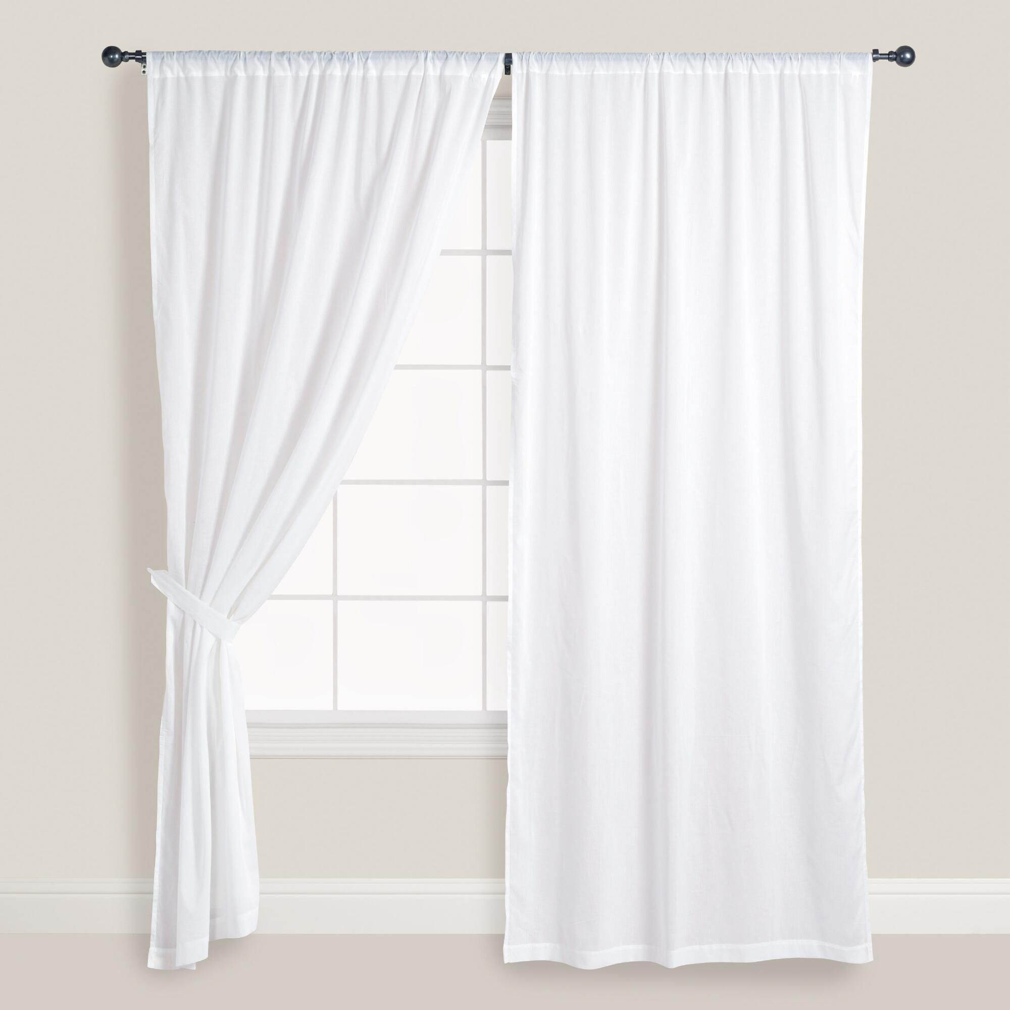 Dreamy, Light And Airy, Our White Cotton Voile Curtains