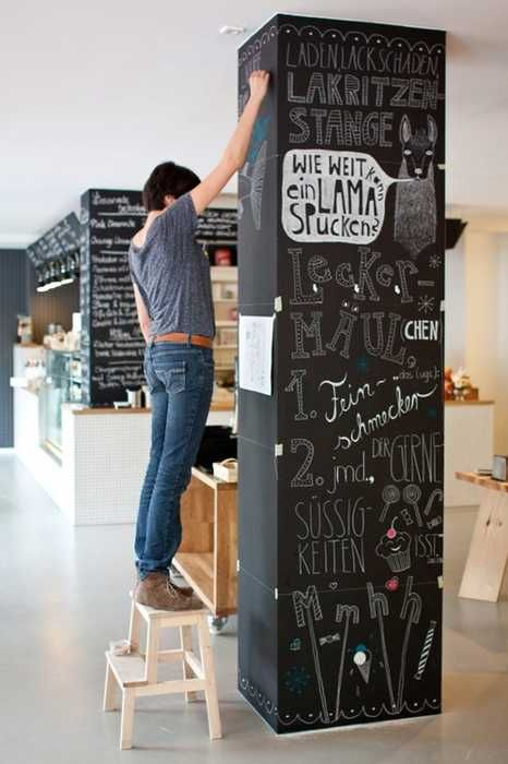 Creative interior decorating ideas 26 black chalkboard paint projects wall dsgn k che - Innenarchitektur hannover ...