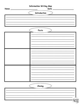 Information Writing 1 Page Template Graphic Organizer