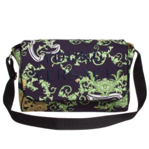 028455bfe2a2 Young Versace - Gold Baroque Dragon Print Baby Changing Bag ...