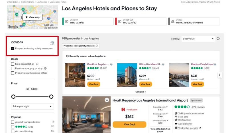 TripAdvisor, Yelp and others highlight venue safety, an