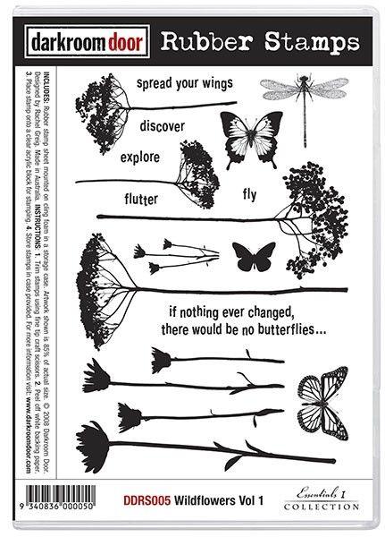 Rubber Stamp Set - Wildflowers Vol 1