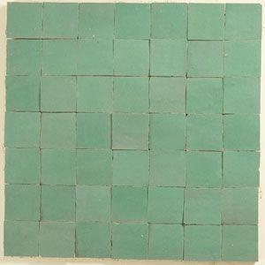 Zellige Fliesen Hellgrun Flooring Material Tile Floor