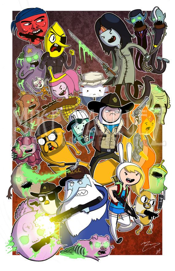 Deadventure Time (The Walking Dead  Adventure Time Crossover) Full Color 11 x 17 Print