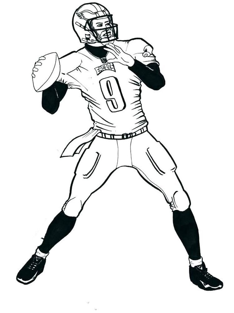 Football Player Coloring Page Free American Football Is Often Associated With Rugby Becaus In 2020 Football Coloring Pages American Football American Football Players