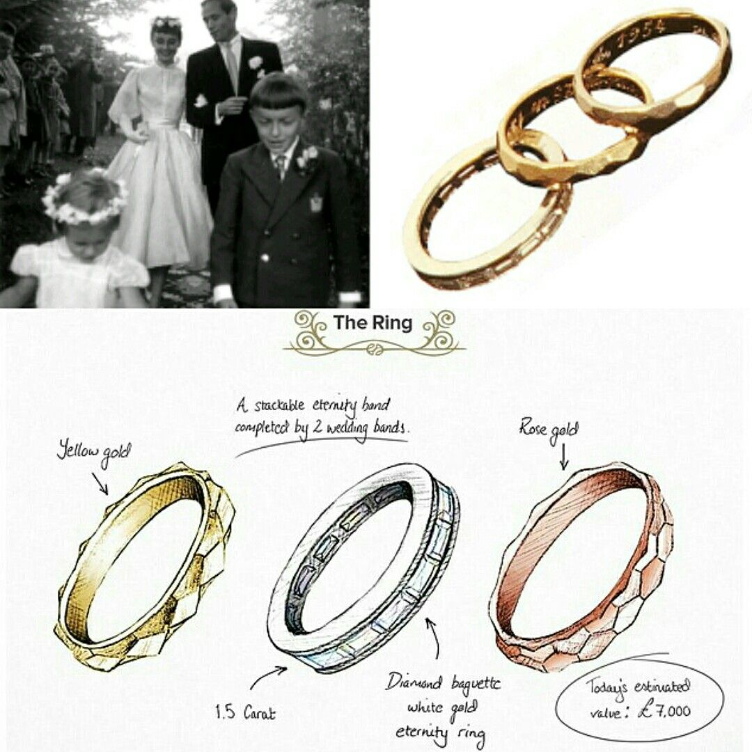 Audrey Hepburn S Beautiful Delicate Stacking Engagement Rings Witg