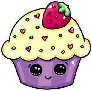 Cupcake roxo kawaii
