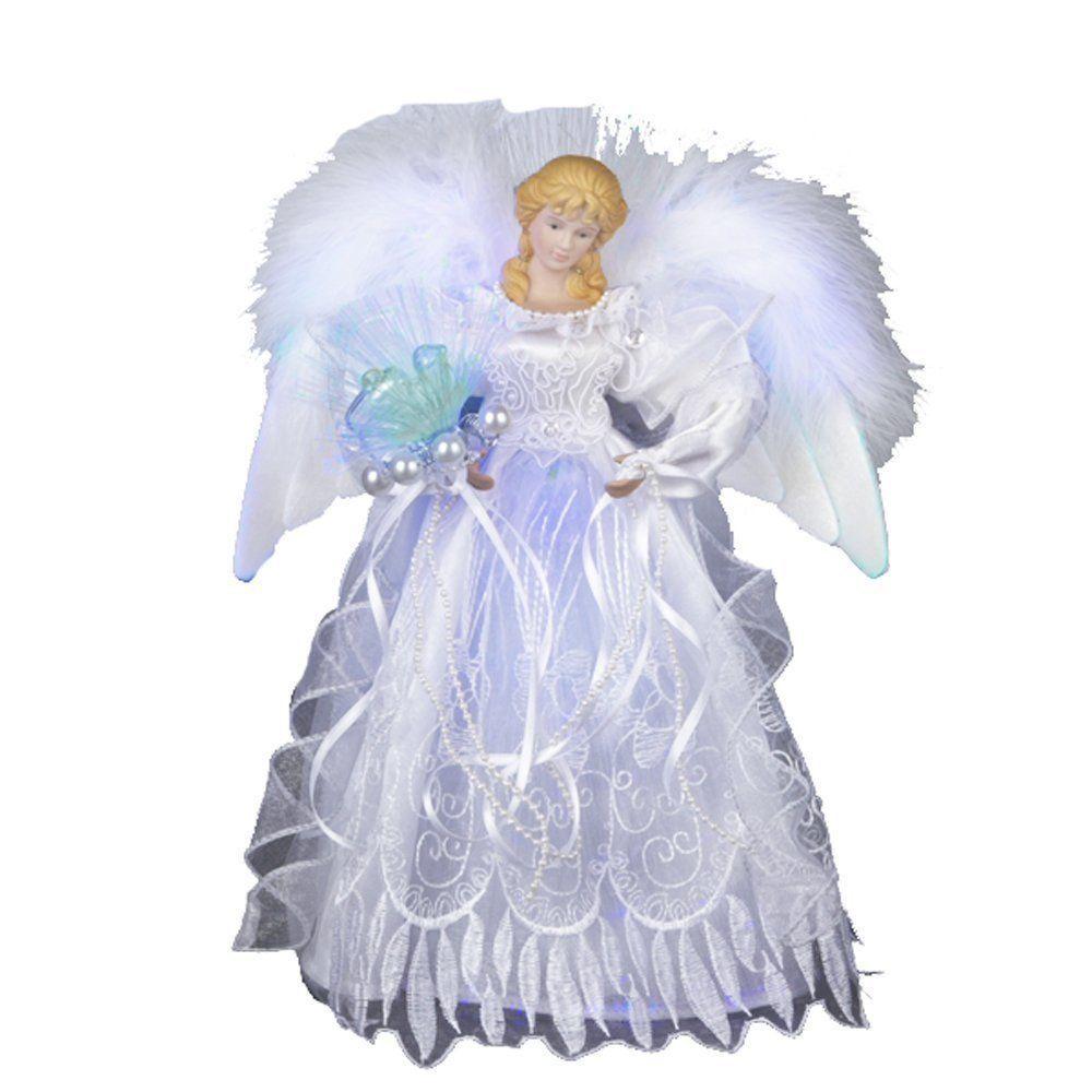 Christmas Tree Topper Glitter Angel Santa Star Crystal Doll Fairy ...