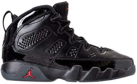 reputable site a521a 68b17 Nike Kids  Preschool Air Jordan Retro 9 Basketball Shoes, Boy s, Black