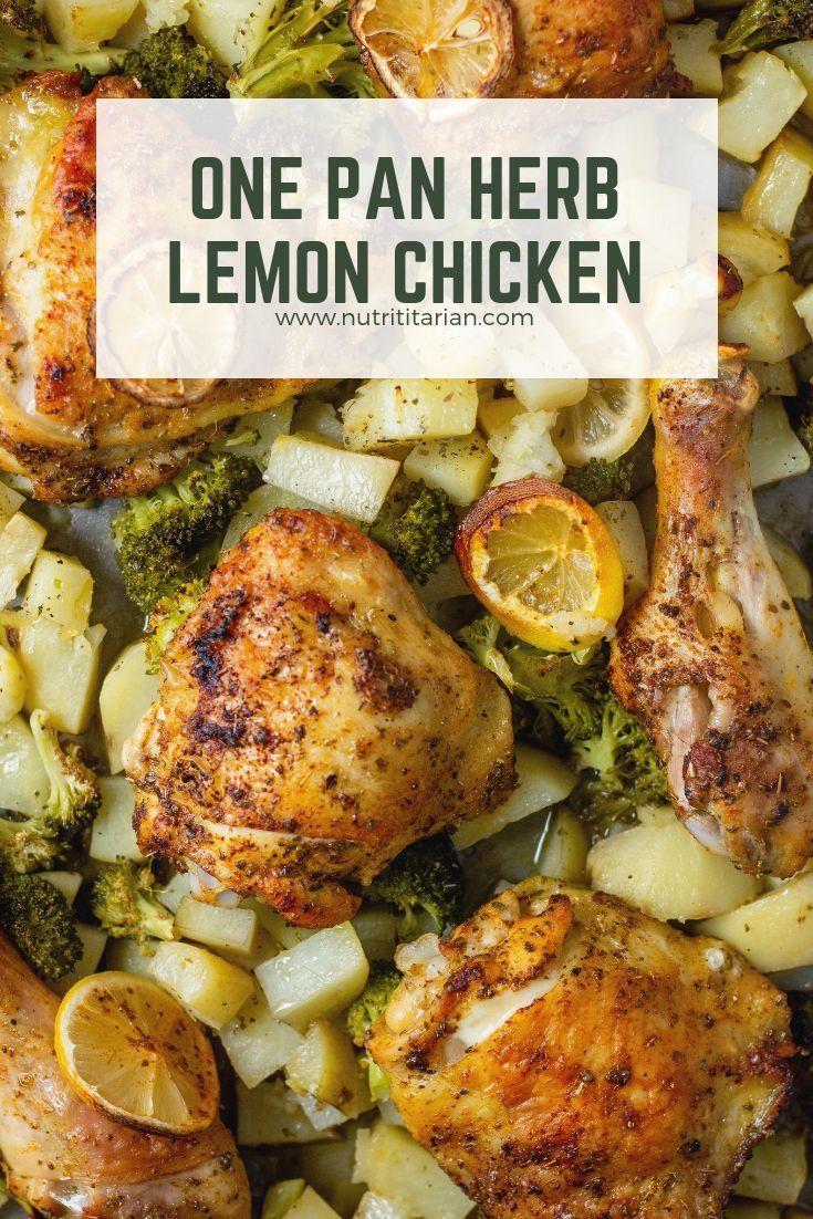 One Pan Herb Lemon Chicken Broccoli And Potatoes  Recipe -4869