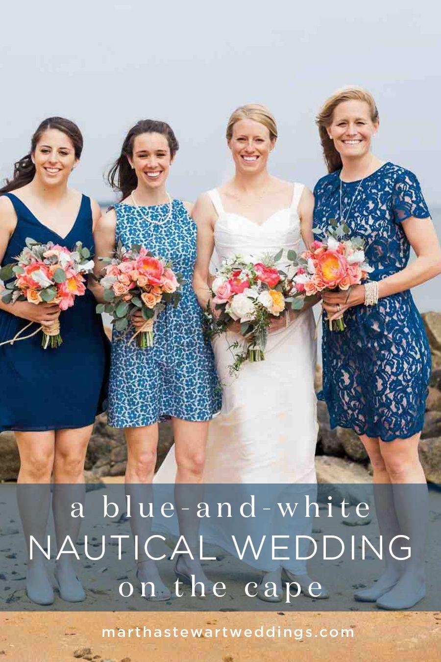 A Blue-and-White Nautical Wedding on the Cape | Martha Stewart Weddings