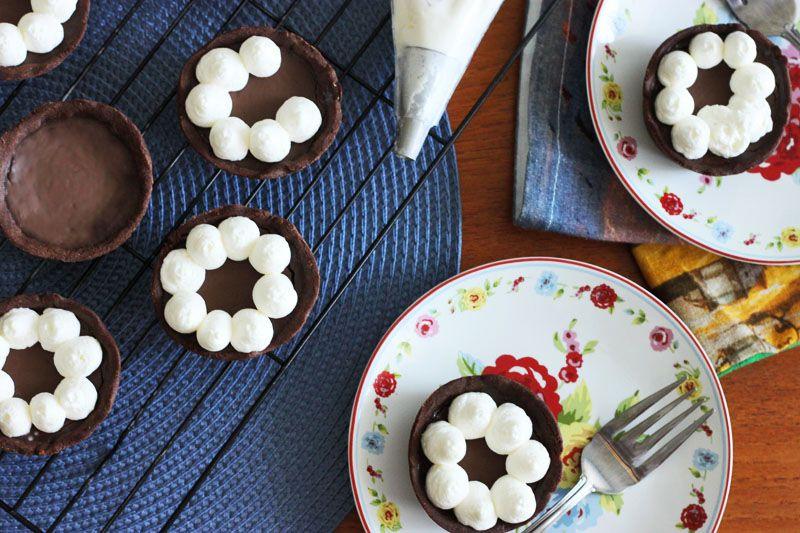 Dark chocolate truffle tartlets dark chocolate truffles