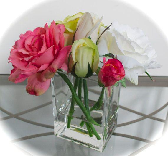 Always yours silk flowers in glass vase with by chicagosilkflorist always yours silk flowers in glass vase with by chicagosilkflorist 6500 flowersinfauxwater beautifulsilkflowers mightylinksfo