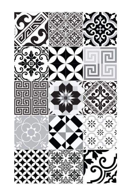 tapis couloir e9 70 x 180 cmcollection eclectic noir & blanc