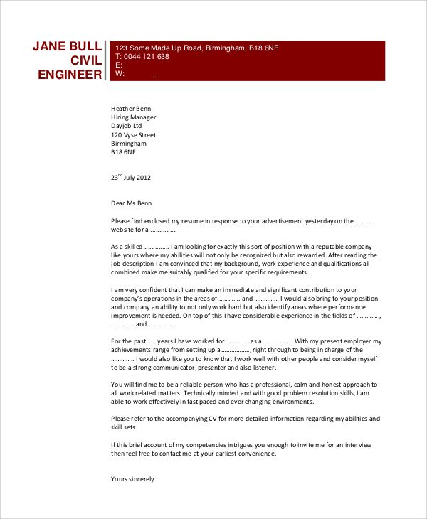 recommendation letter for civil engineer from employer ...