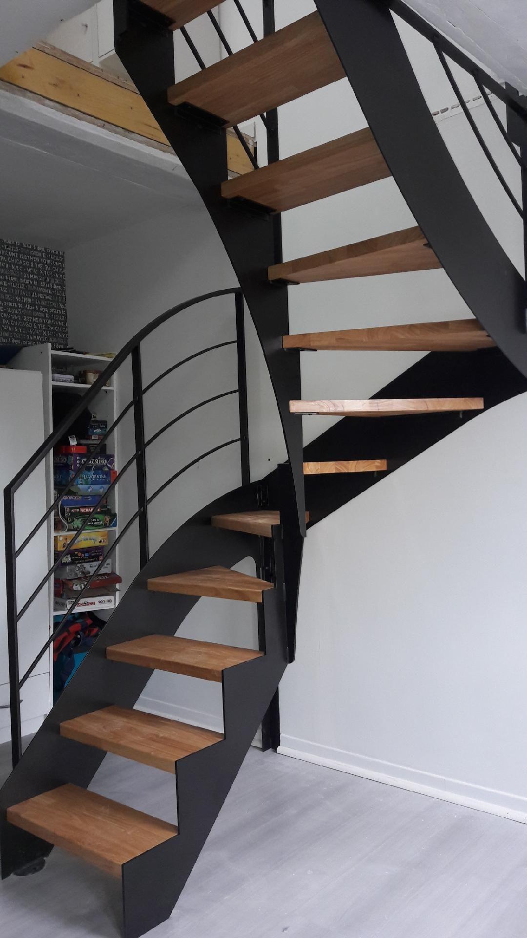 Escalier Limon Fer Plat Nos Escaliers Design Escalier Design