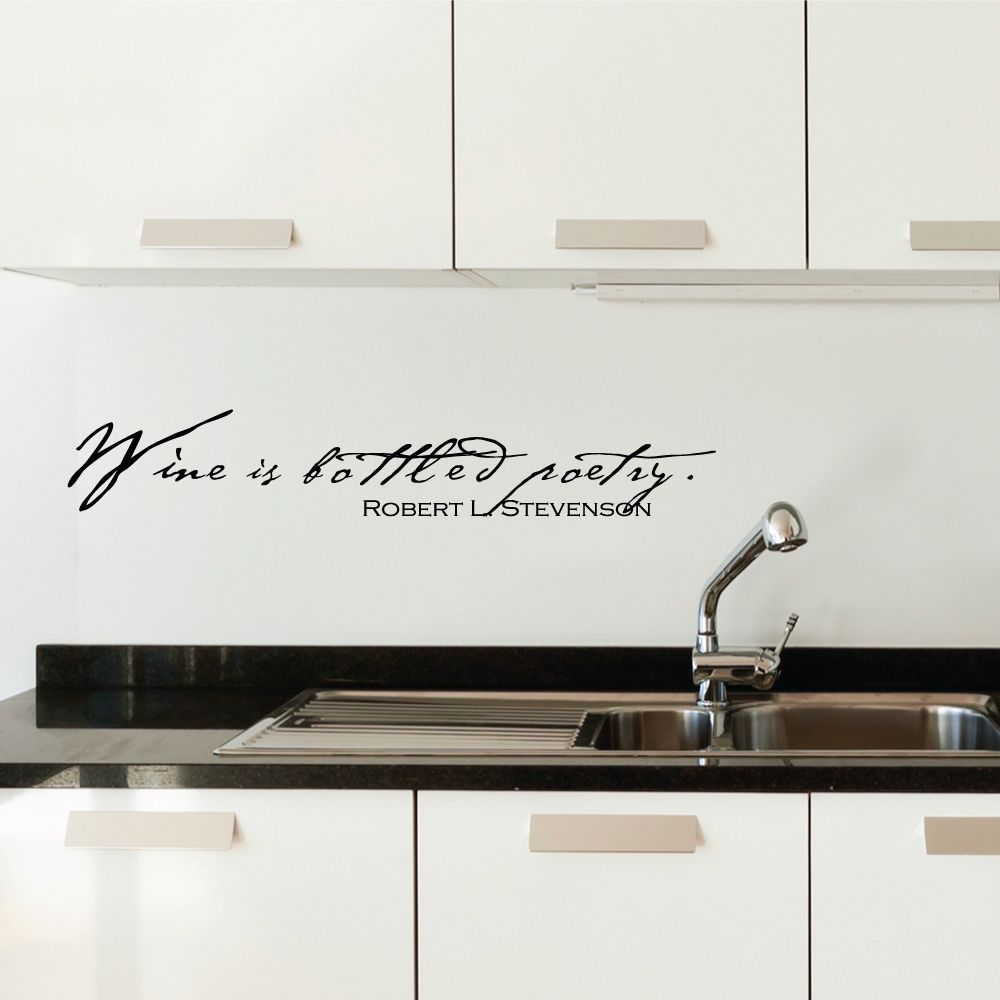 Adesivi Murali Cucina Ikea.Wine Is Bottled Poetry Wall Art Decal Idee