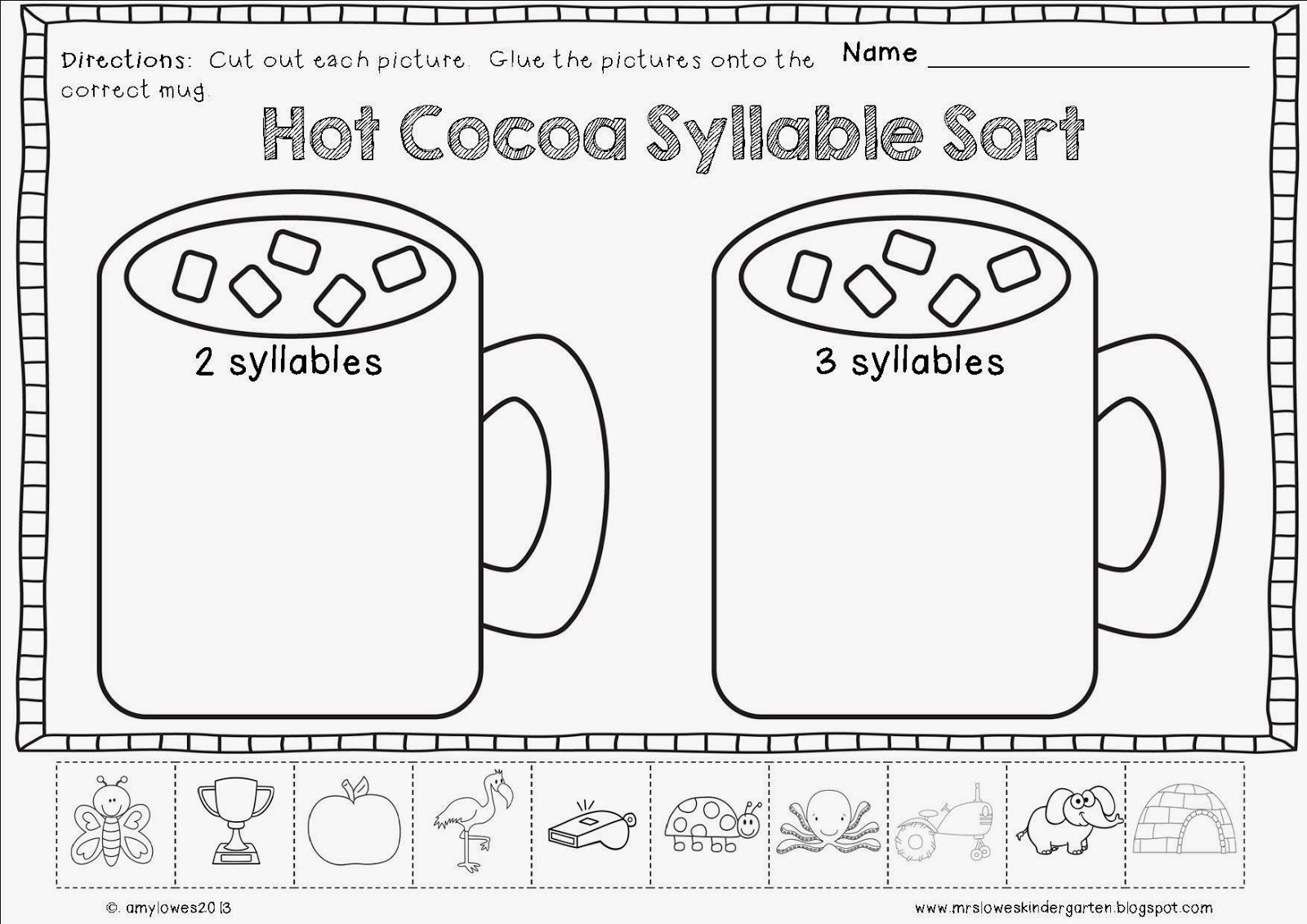 No Prep Winter Math And Literacy Printables 30 Different Activities Included For K 1