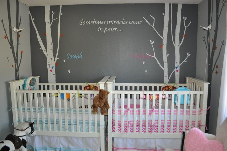 Twin Nursery Ideas Boy And Girl Yaaay I Finally