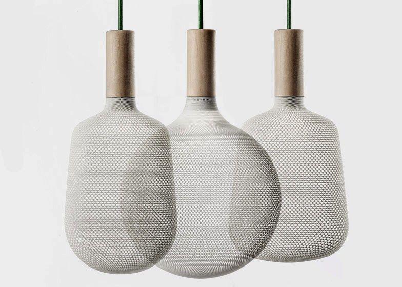 Afillia, 3D printed nylon fibre shades by Alessandro Zambelli for Exnovo
