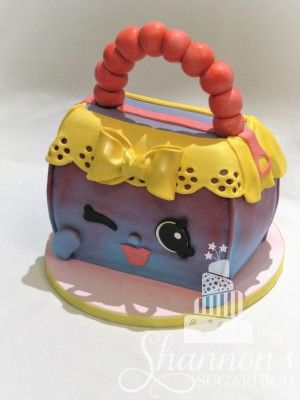 Kins Handbag Harriet Fondant Covered Sculpted Cake Chocolate With Cookies N Cream Ercream Filling