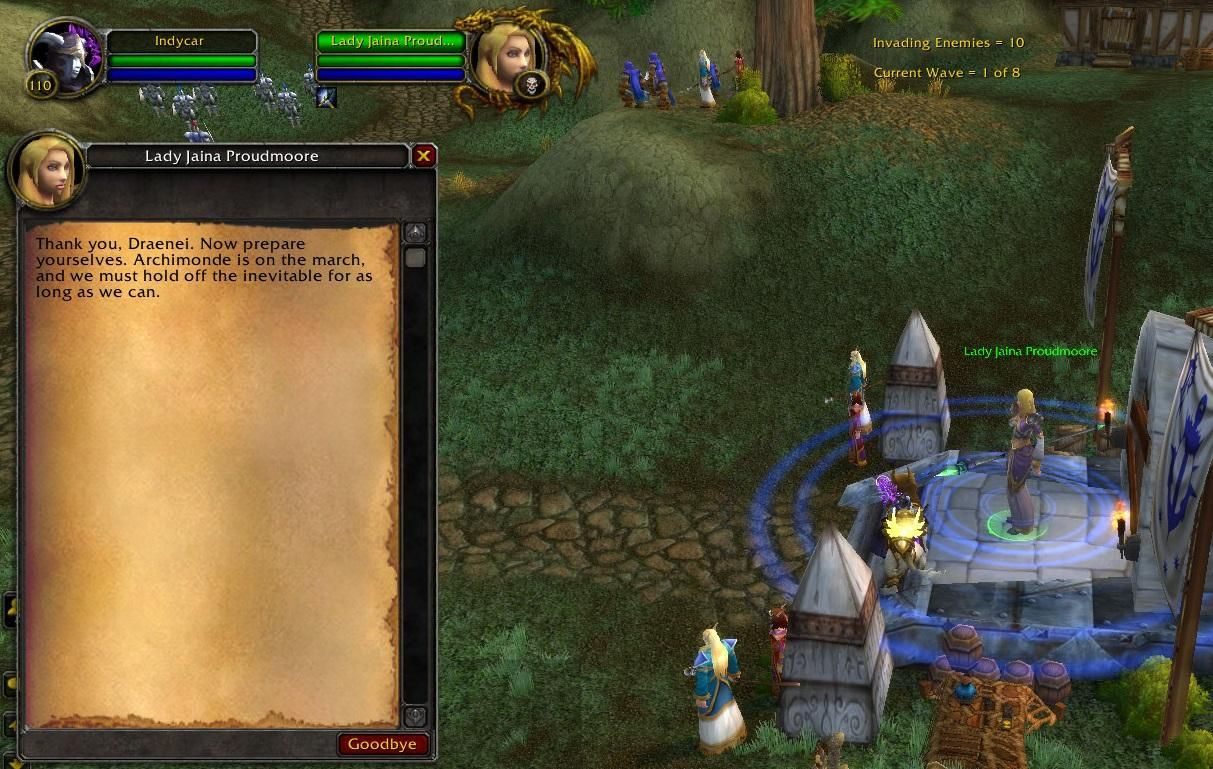 Apparently Jaina Knows What Draenei Are During The Battle Of Mount