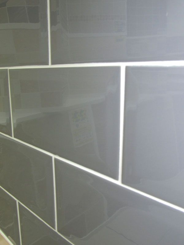 Grey Subway Tile With White Grout. OBSESSED With This Look For A Kitchen  Backsplash.