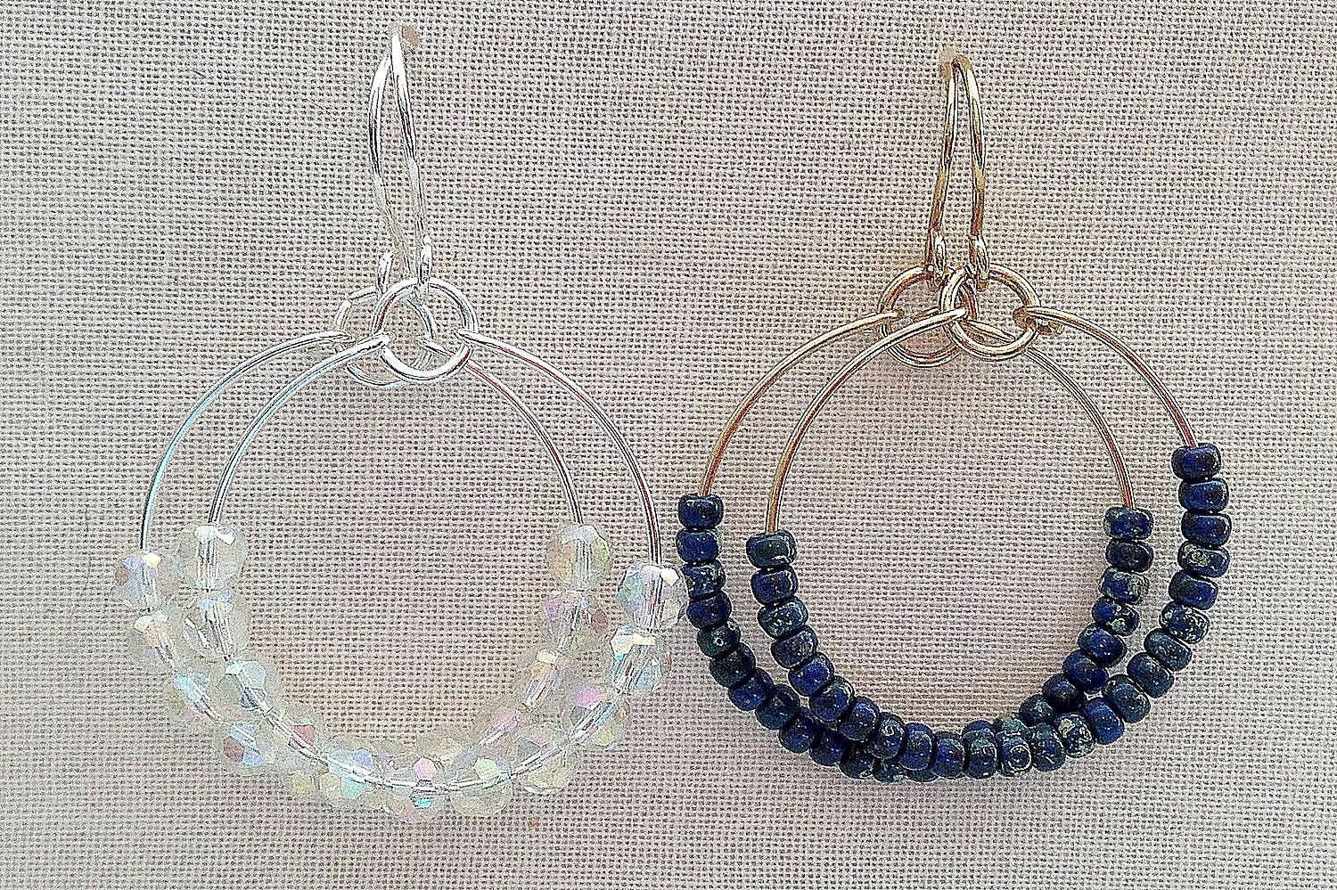 Easy to Make Wire and Bead Hoop Earrings | Beads