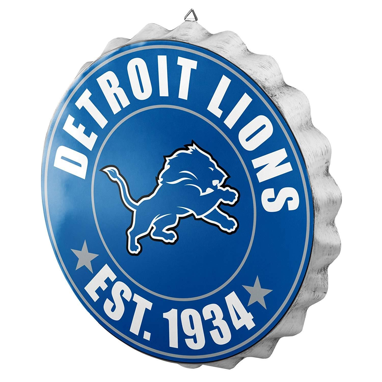 4a43a1bb Detroit Lions Man Cave Bottlecap Wall Sign | Products | Detroit ...