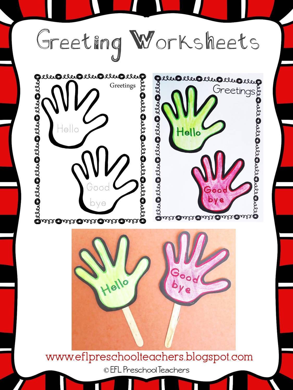 Greetings Resources For Kinder And Elementary Esl Esl Greetings Preschool [ 1500 x 1125 Pixel ]