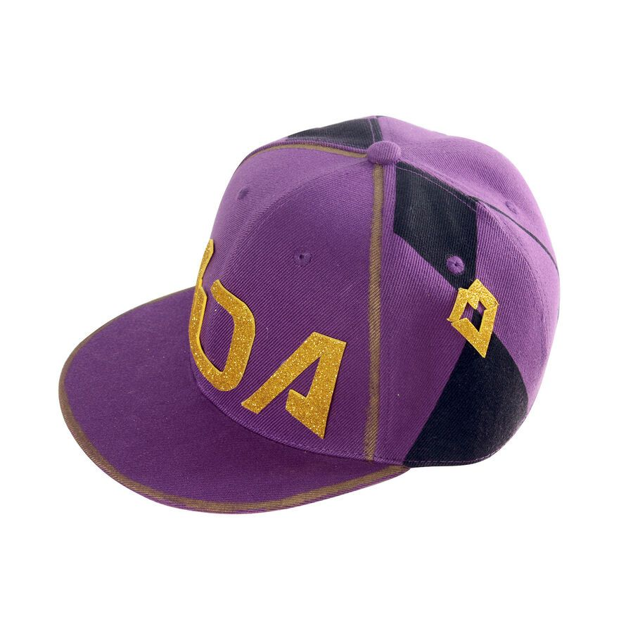 Lol Kda K Da Akali Cosplay Hat Trucker Hip Hop Baseball Cap Mask Prop Lot Purple Hats Hats Baseball Cap